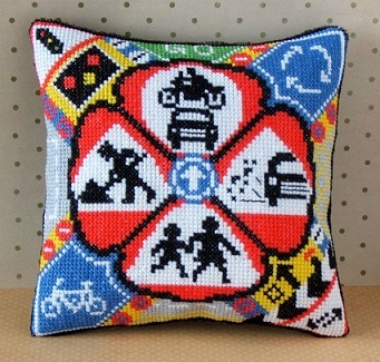 On the Road Mini Cushion Cross Stitch Kit