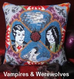 Vampires & Werewolves Mini Cushion Cross Stitch Kit