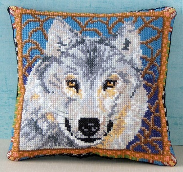Wolf Mini Cushion Cross Stitch Kit